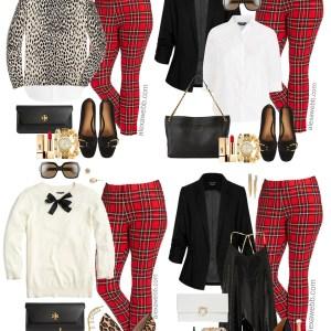 Plus Size Plaid Pants Outfit Ideas - Plus Size Fall Winter Outfit Ideas - Plus Size Fashion for Women - alexawebb.com #plussize #alexawebb