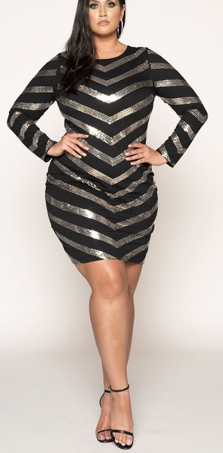 22cc6552caa 24 Plus Size Sequin Dresses - Plus Size Holiday Party Dress - Plus Size  Fashion for
