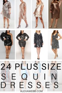 24 Plus Size Sequin Dresses - Plus Size Holiday Party Dress - Plus Size Fashion for Women - alexawebb.com #plussize #alexawebb