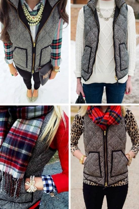 Herringbone Vest Outfits - Plus Size Plaid Shirt Outfit Ideas - Plus Size Fashion for Women - alexawebb.com #alexawebb