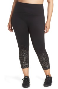 Plus Size Spanx Glittery Capri Leggings - Plus Size Luxury Lounging Outfit - Plus Size Lounge at Home Outfit - Plus Size Fashion for Women - alexawebb.com #plussize #alexawebb