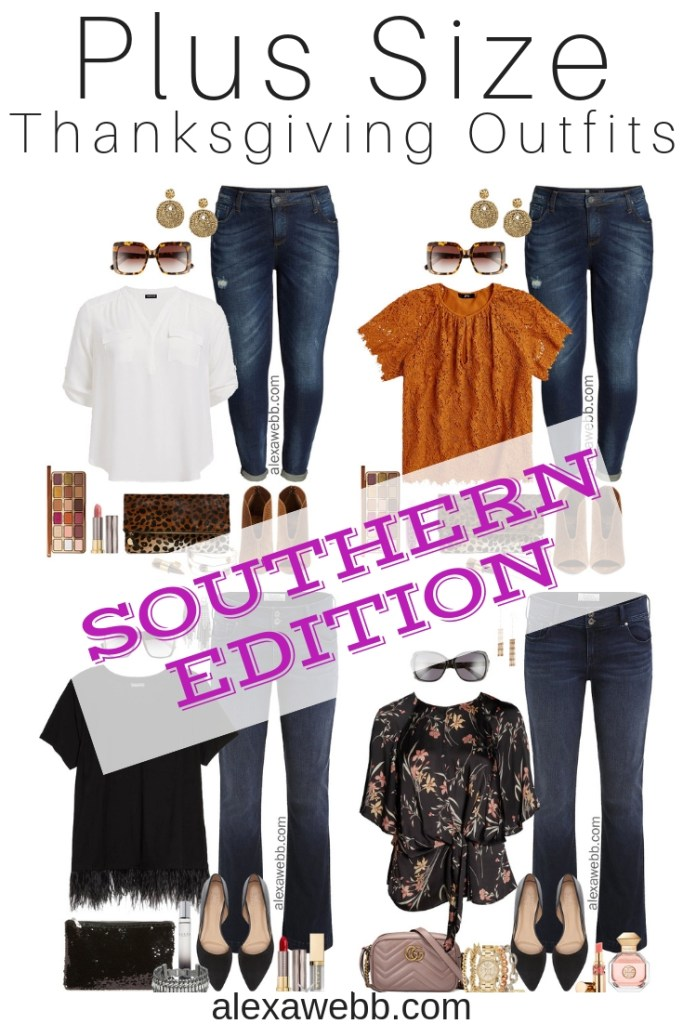 Plus Size Thanksgiving Outfits – Southern Edition - Part 2 - Plus Size Casual Fall Outfits - Plus Size Fashion for Women - alexawebb.com #plussize #alexawebb
