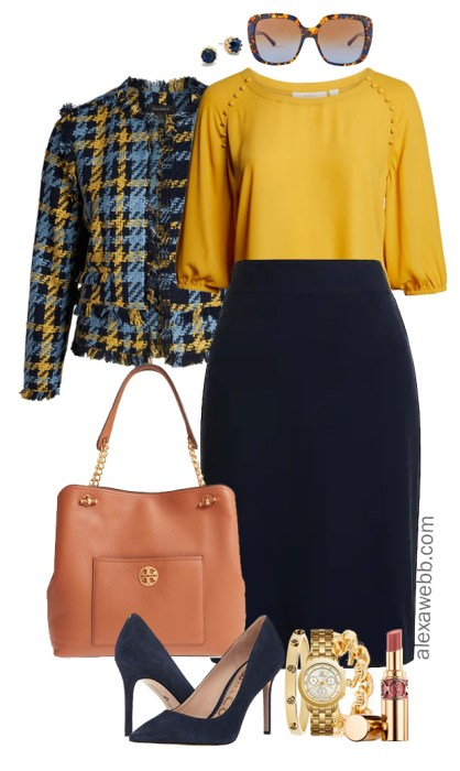 Plus Size Work to Happy Hour Outfits - Plus Size Tweed Jacket Outfit Ideas - Plus Size Work Outfits - Plus Size Fashion for Women - alexawebb.com #plussize #alexawebb