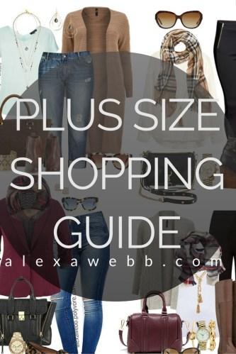 Plus Size Shopping Guide - alexawebb.com #alexawebb #plussize