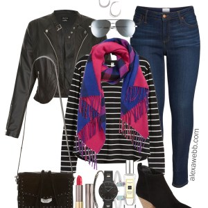 Plus Size Black & Plaid Outfit - Plus Size Nordstom Sale Picks - Plus Size Fashion for Women - alexawebb.com #plussize #alexawebb