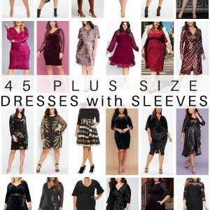 45 Plus Size Party Dresses with Sleeves - Plus Size Wedding Guest Dresses - Plus Size Fashion for Women - alexawebb.com #plussize #alexawebb