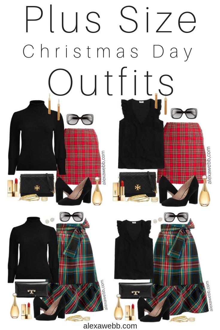 e1d32da1e197 Plus Size Plaid Christmas Outfits - Alexa Webb