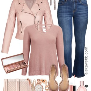 Plus Size Rose Gold Sweater Outfit - Plus Size Winter Outfit Idea - Plus Size Fashion for Women - alexawebb,com #Plussize #alexawebb