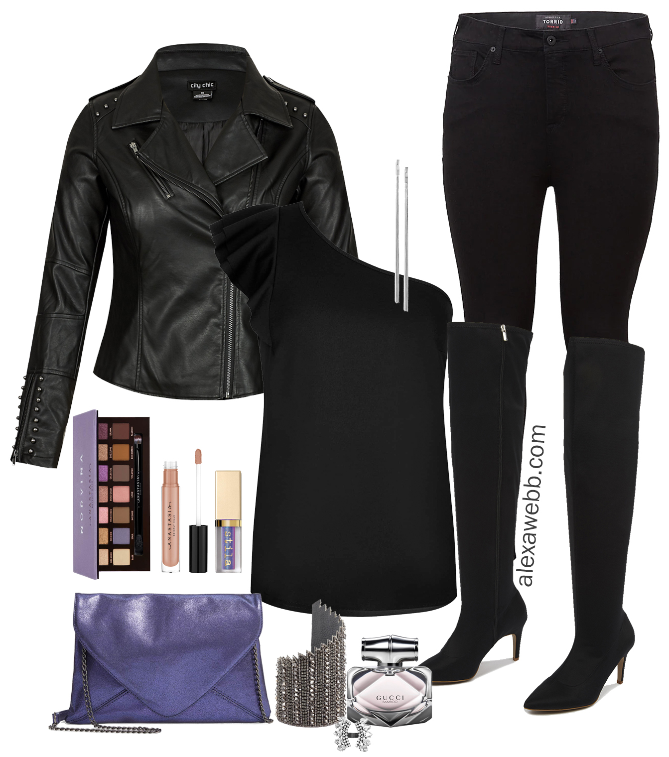 7733819fcec14 Plus Size Winter Night Out Outfit - Alexa Webb