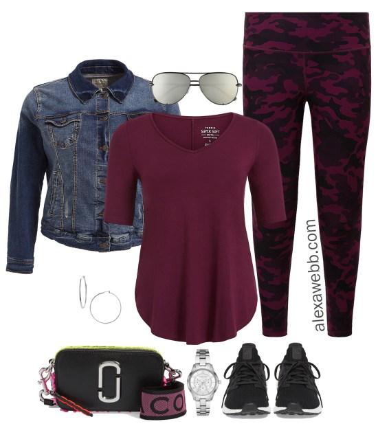 Plus Size Easy Athleisure Outfit Ideas - Camo Leggings - Plus Size Fashion for Women - alexawebb.com #plussize #alexawebb