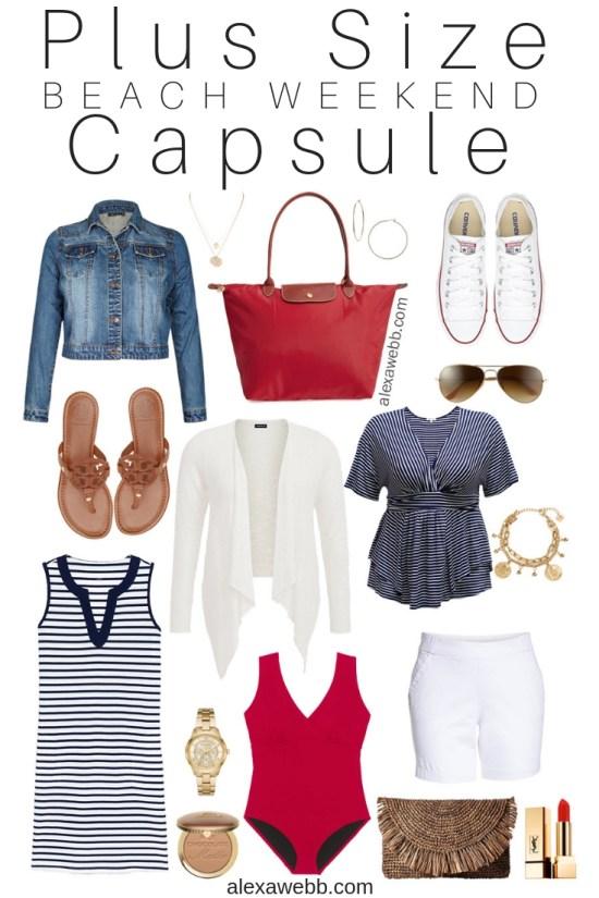 Plus Size Beach Weekend Capsule - Plus Size Vacation Packing List - Plus Size Fashion for Women - Alexa Webb - alexawebb.com #plussize #alexawebb
