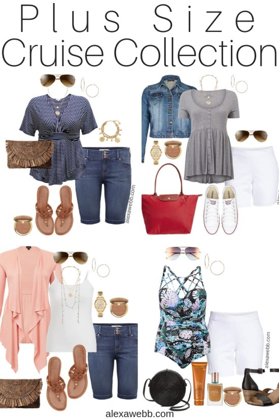 Plus Size Cruise Collection - Casual Vacation Outfits - Plus Size Fashion - Alexa Webb - alexawebb.com #plussize #alexawebb