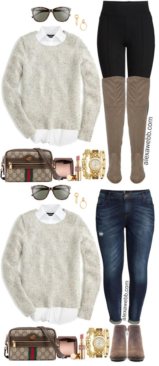 Plus Size Winter Casual Outfits - Plus Size Neutral Sweater - Plus Size Fashion for Women - Alexa Webb - alexawebb.com #plussize #alexawebb