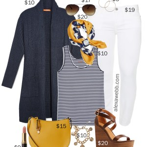 Plus Size on a Budget – White Jeans Outfit - Plus Size Spring Outfit Idea - Plus Size Fashion for Women - alexawebb.com #plussize #alexawebb