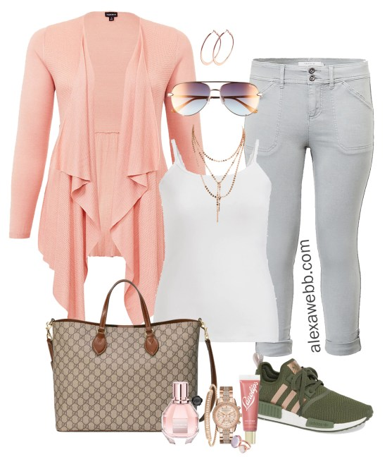 Plus Size Airport Style Outfits - Travel Day - What to wear on a plane - Plus Size Fashion for Women - Alexa Webb - alexawebb.com #plussize #alexawebb