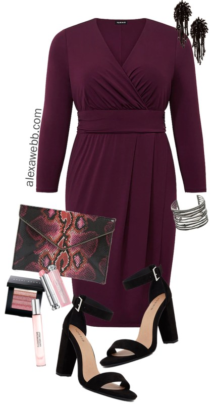 Plus Size Valentine's Date Night Outfit - Sexy Dress - Plus Size Fashion for Women - alexawebb.com #plussize #alexawebb