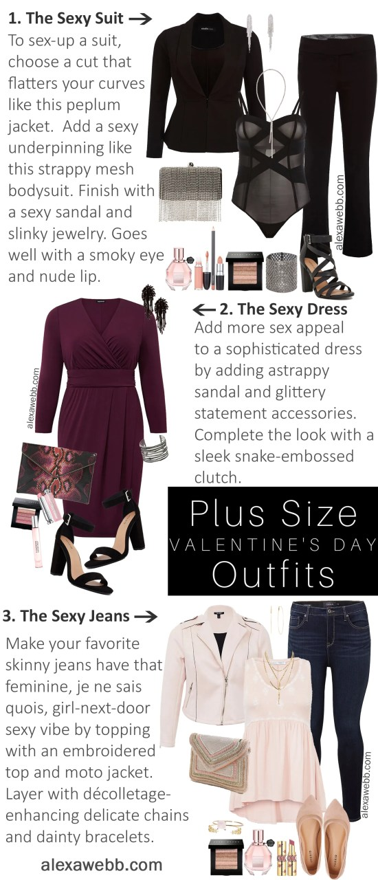Plus Size Valentine's Date Night Outfit Ideas - Plus Size Sexy Outfits - Plus Size Fashion for Women - Alexa Webb - alexawebb.com #plussize #alexawebb