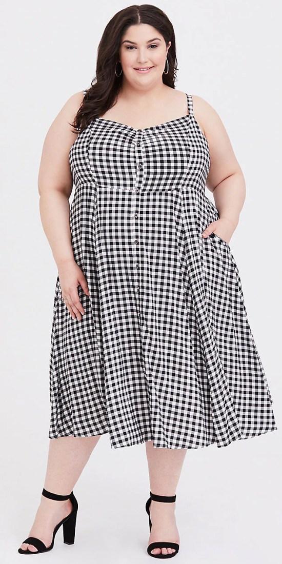 Plus Size Spring Dresses - Plus Size Gingham Dress - Plus Size Fashion for Women - alexawebb.com #plussize #alexawebb