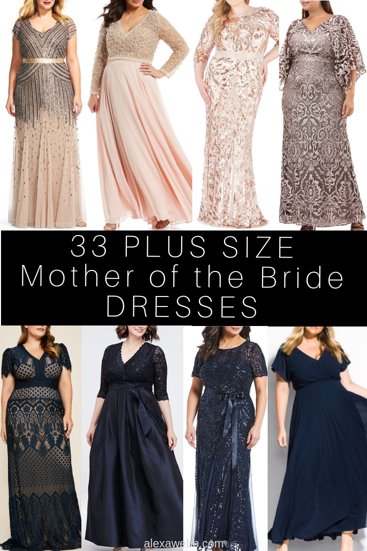 Below-Knee Plus Size Mother of Groom Dresses