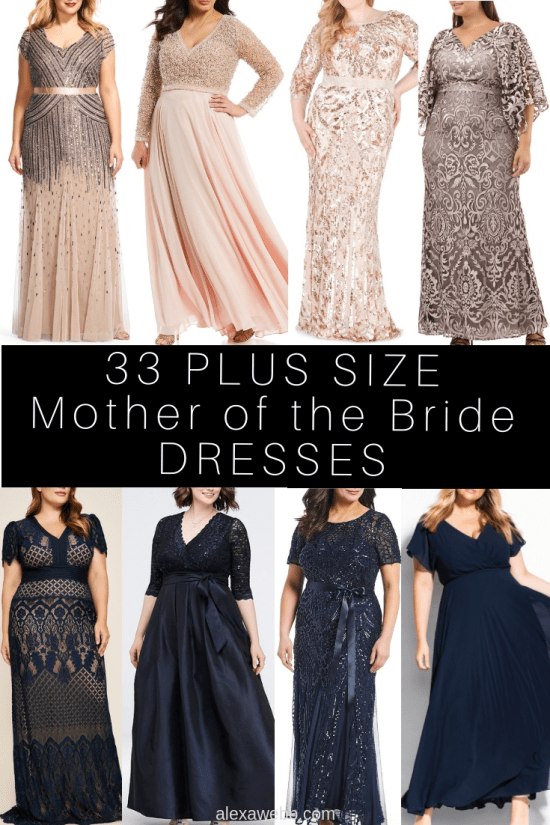33 Plus Size Mother of the Bride Dresses - Plus Size Mother of the Groom Dress with Sleeves - alexawebb.com #alexawebb