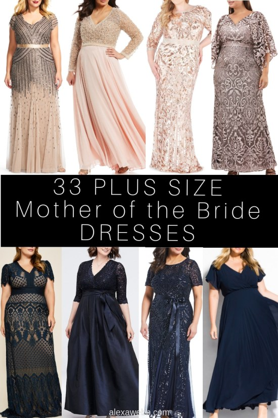 33 Plus Size Mother of the Bride Dresses - Alexa Webb