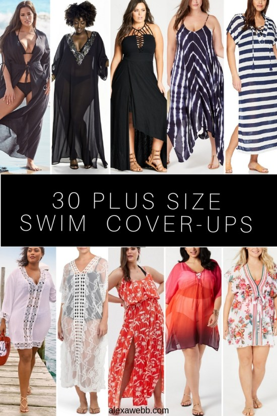 30 Plus Size Swimwear Cover-Ups - Plus Size Swimsuits - Alexa Webb - alexawebb.com #alexawebb #swimwear