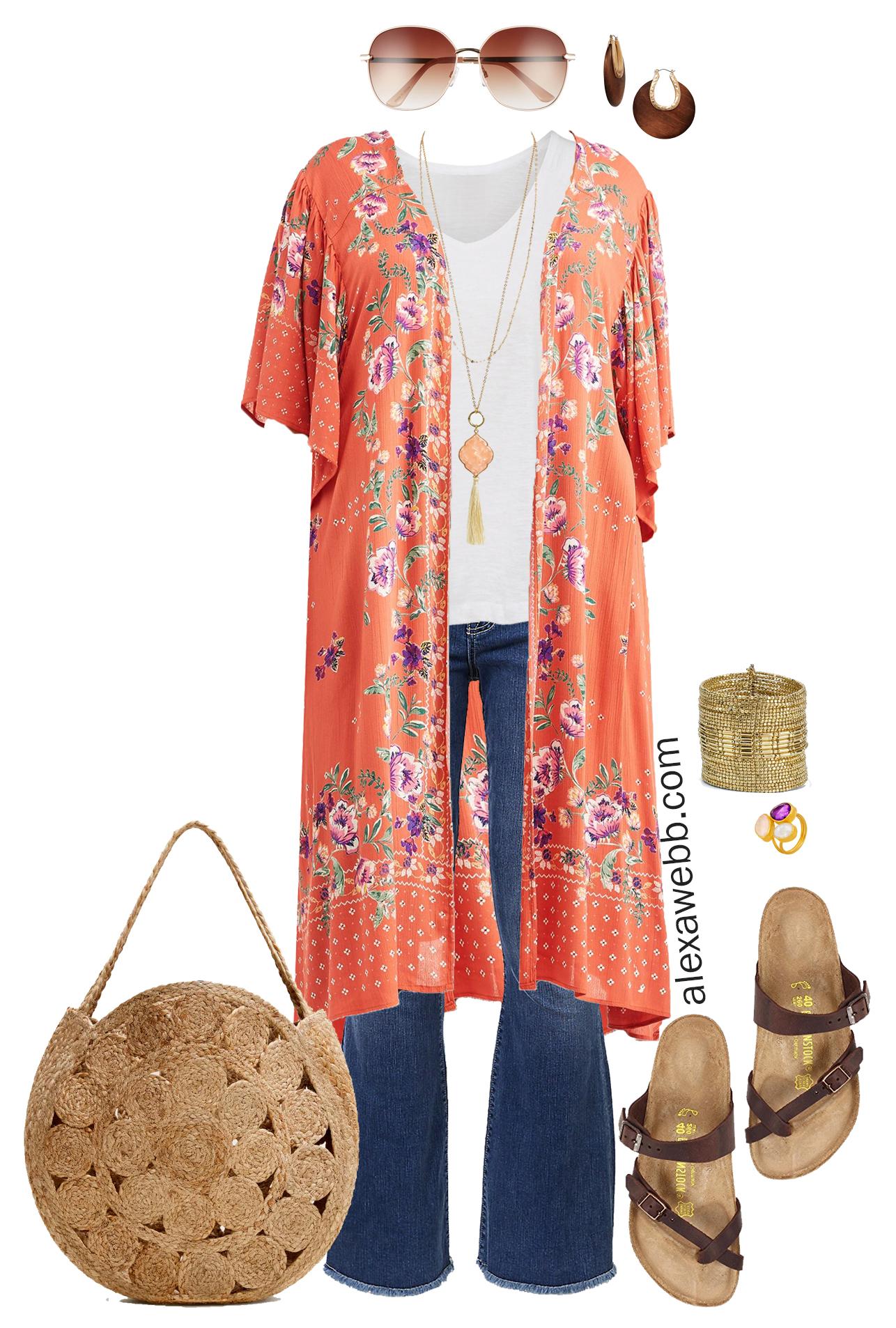 Plus Size Kimono Outfit Alexa Webb