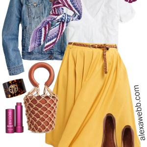 a9162875c36bb Plus Size Midi Skirt Outfits - Spring Mustard Skirt - Plus Size Fashion for  Women -