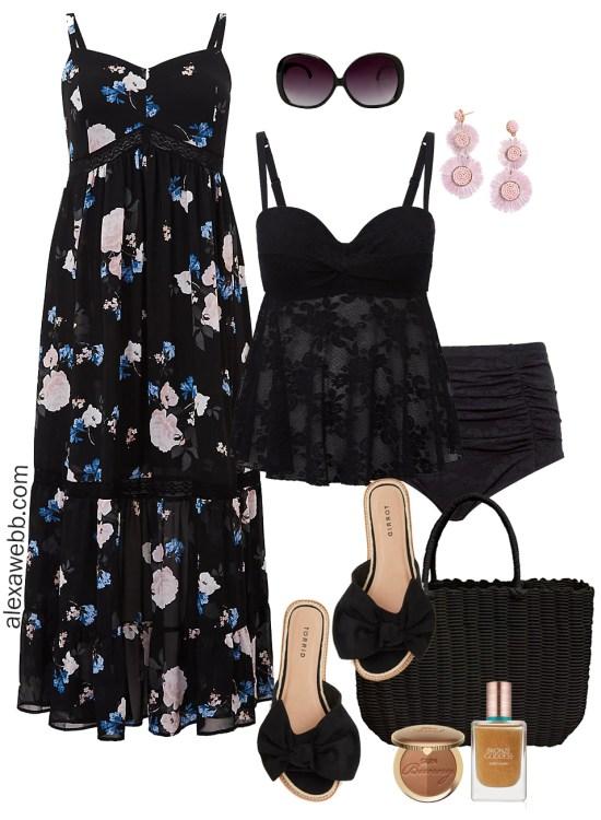 Plus Size Spring Break Outfits - At the Beach Swimwear - Plus Size Fashion for Women - alexawebb.com #plussize #alexawebb