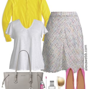 e7978aea55534 Plus Size Spring Work Outfit - Plus Size Workwear - alexawebb.com  plussize