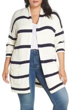 Plus Size Striped Cardigan Outfit - Plus Size Spring Casual Outfit Idea - Plus Size Fashion for Women - alexawebb.com #plussize #alexawebb
