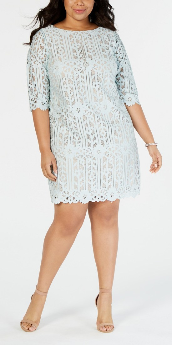 36 Plus Size Wedding Guest Dresses {with Sleeves} - Plus Size Spring Wedding Guest Dresses - alexawebb.com #plussize #alexawebb