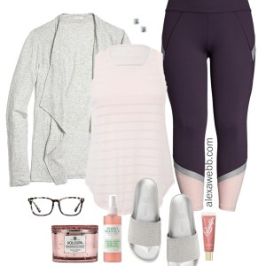 Plus Size Spring Loungewear - Plus Size Activewear, Leggings, Cardigan, Slides - Plus Size Fashion for Women - alexawebb.com #plussize #alexawebb