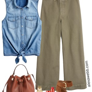 Plus Size Wide Leg Chinos Outfit - Plus Size Summer Casual Outfit Ideas - Plus Size Fashion for Women - alexawebb.com #plussize #alexawebb