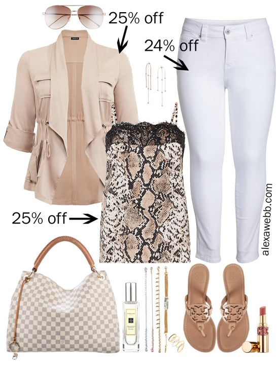 Plus Size Spring Sales - Snake Print Top Outfits - Plus Size Fashion for Women - alexawebb.com #plussize #alexawebb