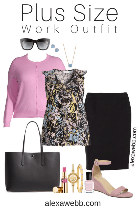 Plus Size Summer Work Outfit - Plus Size Business Casual Outfit Idea - alexawebb.com #plussize #alexawebb
