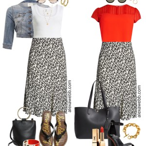 Plus Size Leopard Midi Skirt Outfits - Plus Size Fashion for Women - alexawebb.com #plussize #alexawebb