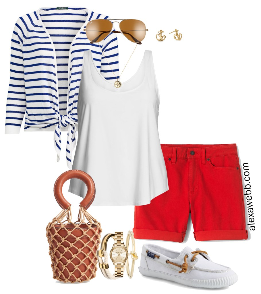 Plus Size Nautical Outfit - Alexa Webb