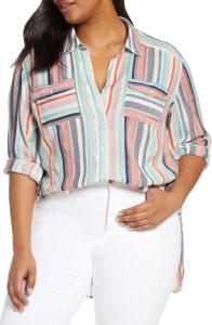 Plus Size Striped Shirt - alexawebb.com #plussize #alexawebb