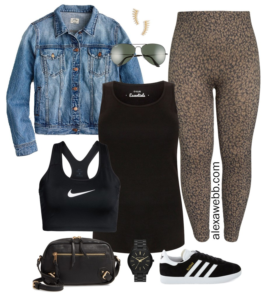 Plus Size Athleisure Outfit Idea - Plus Size Fashion for Women - alexawebb.com #plussize #alexawebb