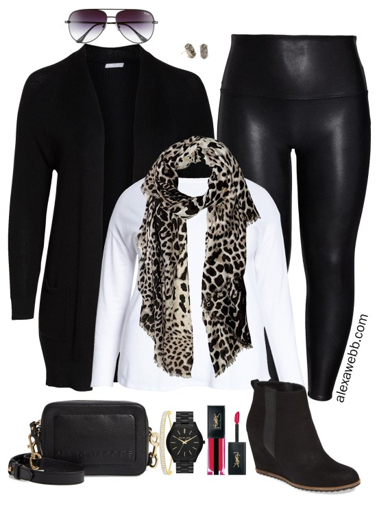 Plus Size Faux Leather Leggings- Nordstrom Anniversary Sale 2019 - Plus Size Fashion for Women - alexawebb.com #plussize #alexawebb