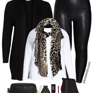 Plus Size Faux Leather Leggings - Nordstrom Anniversary Sale 2019 - Plus Size Fashion for Women - alexawebb.com #plussize #alexawebb