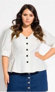 Plus Size Summer Linen Top - Boho Outfit - alexawebb.com #plussize #alexawebb