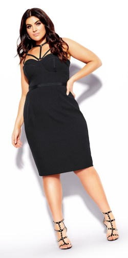 Plus Size Date Night LBD - Black Bodycon Dress - Plus Size Fashion for Women - alexawebb.com #plussize #alexawebb