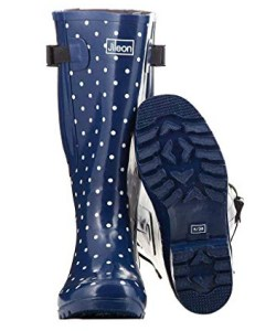Jileon Extra Wide Calf Rubber Rain Boots for Women-Widest Fit Boots in The US-up to 23 inch Calves-Wide in The Foot and Ankle | Rain Footwear