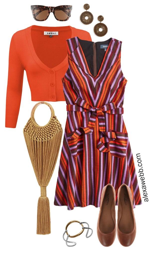 Plus Size Fall Dress Outfit Idea - Plus Size Teacher Outfit Idea - Alexa Webb - alexawebb.com #plussize #alexawebb