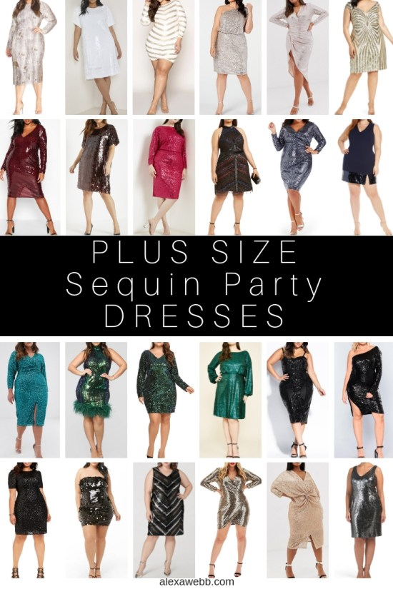 24 Plus Size Sequin Dresses - Plus Size Holiday Party Dress - alexawebb.com #plussize #alexawebb