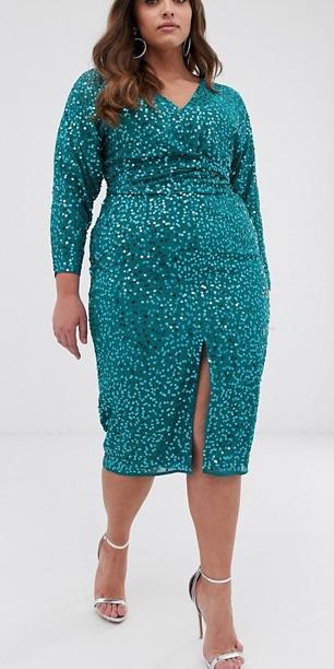 24 Plus Size Sequin Dresses - Plus Size Holiday Party Dress - alexawebb.com #plussize #alexawebb