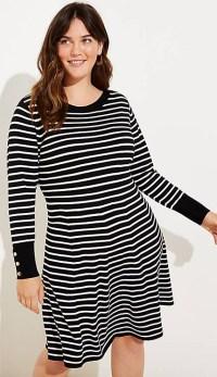 Plus Size Striped Sweater Dress - Plus Size Fashion for Women - alexawebb.com #Plussize #alexawebb