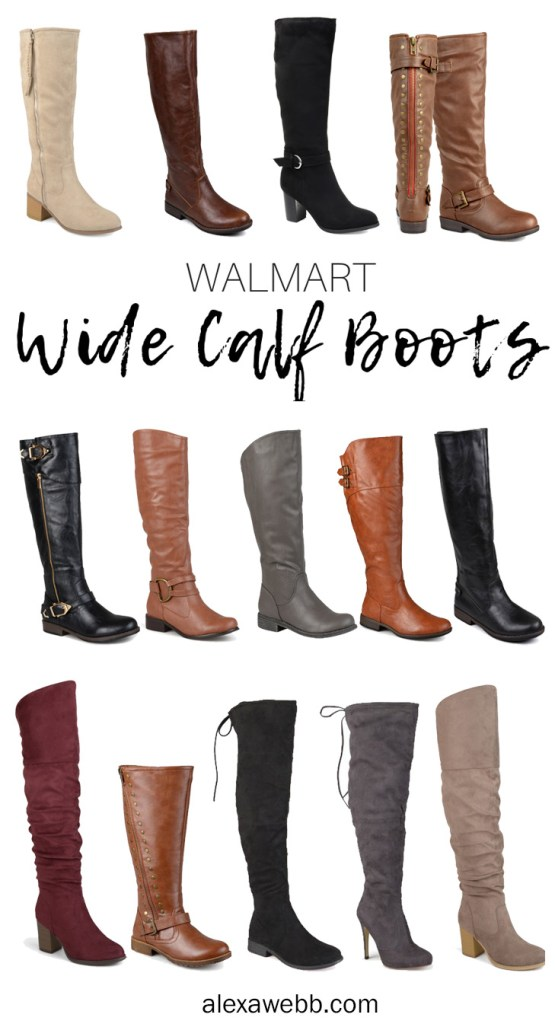 Wide Calf Boots at Walmart - Over-the-Knee OTK Boots - Plus Size Fashion for Women - alexawebb.com #plussize #alexawebb